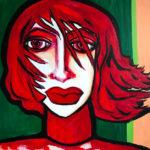 100 x 80 cm, Acryl auf Leinwand