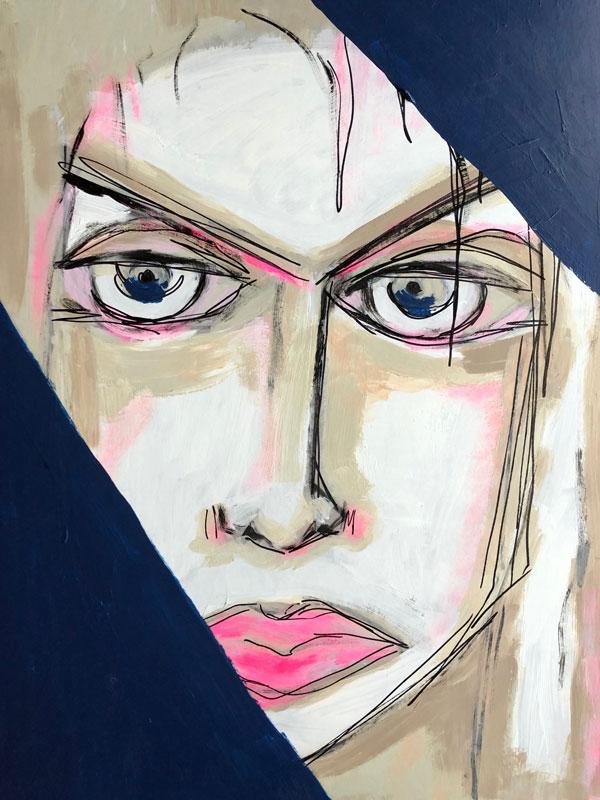 40 x 50 cm, Acryl auf Papier