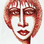 Chinatusche auf Papier, Kunstpostkarte