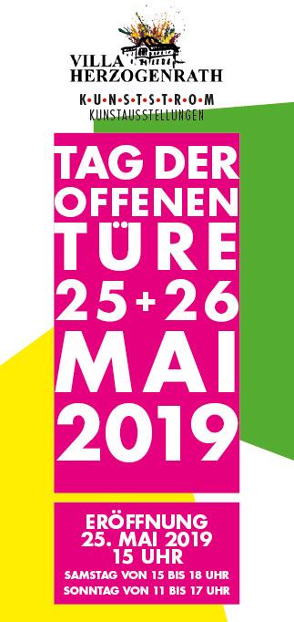 Einladung Kunststrom Kunstausstellung 2019, Villa Herzogenrath