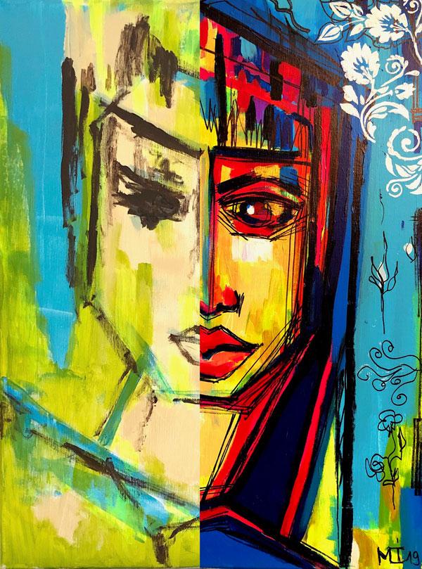 60x80 cm, Acryl auf Leinwand