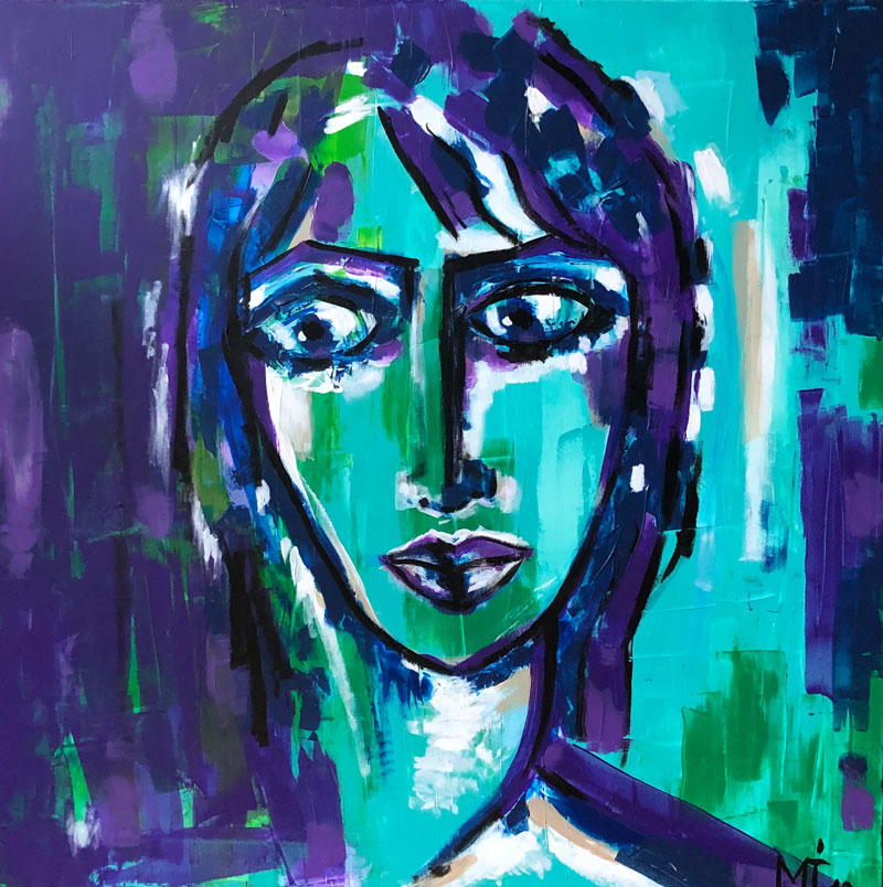 80 x 80 cm, Acryl auf Leinwand