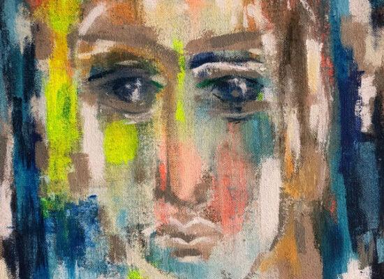 50 x 70 cm, Acryl auf Juteleinwand