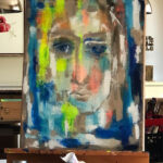 "Porträt ""Alice"" in Arbeit"
